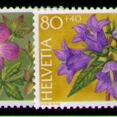 Sellos: SUIZA 1991 - FLORES - YVERT Nº 1383/1386**. Lote 262789610