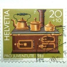 Selos: SUIZA TASAS PROJUVENTUD 1983 ARTESANIA SELLO USADO. Lote 262842360