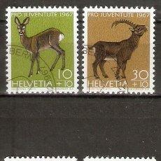 Sellos: SUIZA.1967. YT 799/802. FAUNA. Lote 268031484