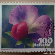 Sellos: SUIZA 2011. VEGETABLE BLOSSOMS. MI:CH 2194ZF,. Lote 268923179