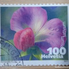 Sellos: SUIZA 2011. VEGETABLE BLOSSOMS. MI:CH 2194ZF,. Lote 268977679