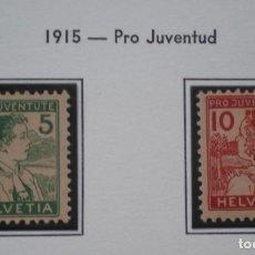 Sellos: SUIZA - IVERT Nº 149/50 - SERIE NUEVA * CON FIJASELLOS - 2 FOTOS. Lote 269016899