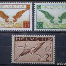 Sellos: SUIZA - IVERT AEREOS Nº 13/15 NUEVOS ** / * CON Y SIN FIJASELLO - 2 FOTOS. Lote 269117133