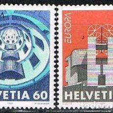 Sellos: SUIZA IVERT 1428/9, EUROPA 1993 (ARQUITECTURA CONTEMPORANEA), NUEVO. Lote 269270128