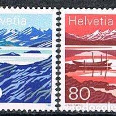 Sellos: SUIZA EDIFIL Nº 1387/8 , LAGO DE MELCHY Y LAGO DE MOESOLA, NUEVO ***, SERIR COMPLETA. Lote 269441418