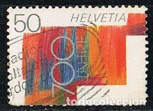 SUIZA EDIFIL Nº 1368, LA CULTURA ENTRE LAS CUATRO REGIONES LINGUISTICAS SUIZAS. USADO (Sellos - Extranjero - Europa - Suiza)
