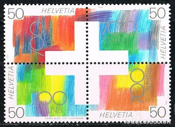 SUIZA EDIFIL Nº 1368/71, LA CULTURA ENTRE LAS CUATRO REGIONES LINGUISTICAS SUIZAS. NUEVO EN HOJITA (Sellos - Extranjero - Europa - Suiza)