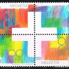 Sellos: SUIZA EDIFIL Nº 1368/71, LA CULTURA ENTRE LAS CUATRO REGIONES LINGUISTICAS SUIZAS. NUEVO EN HOJITA. Lote 269448633