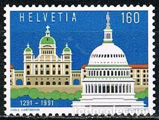 SUIZA EDIFIL Nº 1367, 7º CENTENARIO DE LA CONFEDERACIÓN HELVETICA (SUIZA), NUEVO (Sellos - Extranjero - Europa - Suiza)