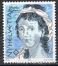 SUIZA EDIFIL Nº 1350, ANGELKIKA KAUFFMANN, POETA, USADO (Sellos - Extranjero - Europa - Suiza)