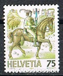 SUIZA EDIFIL Nº 1313, EL TRANSPORTE POSTAL A TRAVÉS DE LOS TIEMPOS, MENSAJERO A CABALLO, NUEVO (Sellos - Extranjero - Europa - Suiza)