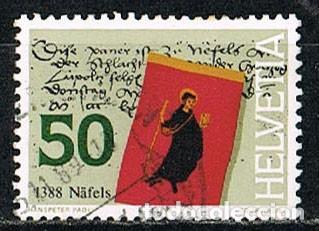 SUIZA IVERT 1295, 6º CENTENARIO DE LA BATALLA DE NAFEELS, USADO (Sellos - Extranjero - Europa - Suiza)