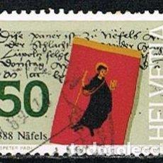 Sellos: SUIZA IVERT 1295, 6º CENTENARIO DE LA BATALLA DE NAFEELS, USADO. Lote 269463883