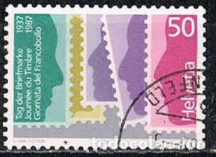 SUIZA IVERT 1285, 50º DIA DEL SELLO, USADO (Sellos - Extranjero - Europa - Suiza)
