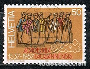 SUIZA IVERT 1270, 450 ANIVERSARIO DE LA UNIVERSIDAD DE LAUSANA, USADO (Sellos - Extranjero - Europa - Suiza)