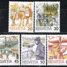 Sellos: SUIZA IVERT 1264/8, EL TRANSPORTE POSTAL A TRAVÉS DE LOS TIEMPOS, NUEVO, SERIE COMLETA. Lote 269468823