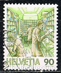 SUIZA IVERT 1255, EL TRANSPORTE POSTAL A TRAVÉS DE LOS SIGLOS: VAGÓN POSTAL, USADO (Sellos - Extranjero - Europa - Suiza)