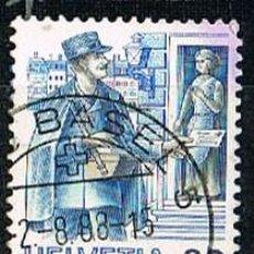 Sellos: SUIZA IVERT 1254, EL TRANSPORTE POSTAL A TRAVÉS DE LOS SIGLOS: CARTERO DE AYER. Lote 269470223