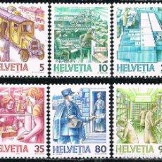 Sellos: SUIZA IVERT 1250-1255, EL TRANSPORTE POSTAL A TRAVÉS DE LOS SIGLOS, NUEVO, SERIE COMPLETA. Lote 269470803