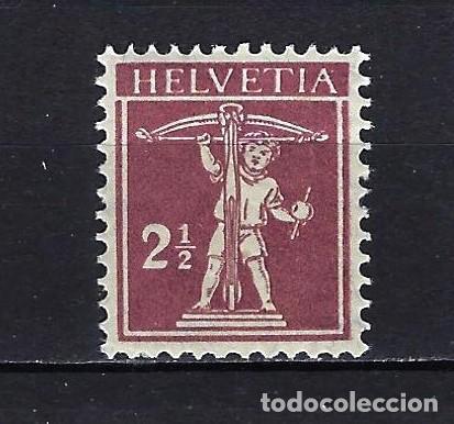 1918 SUIZA MICHEL 136 YVERT 157 GUILLERMO TELL MNH** NUEVO SIN FIJASELLOS (Sellos - Extranjero - Europa - Suiza)