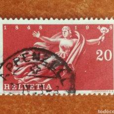 Sellos: SUIZA, 100 ANIVERSARIO DEL ESTADO 1948 USADO (FOTOGRAFÍA REAL). Lote 273400353