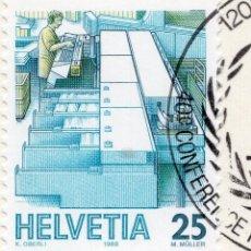 Sellos: SUIZA , 1986 , MICHEL 1323YA. Lote 294955833