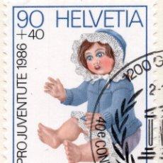 Sellos: SUIZA , 1986 , MICHEL 1334. Lote 294955948