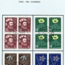 Sellos: SUIZA.1949. YT 493/496. PRO JUVENTUD.. Lote 278559093