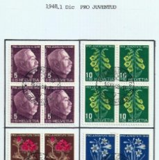 Sellos: SUIZA.1948. YT 467/470. PRO JUVENTUD.. Lote 278559263