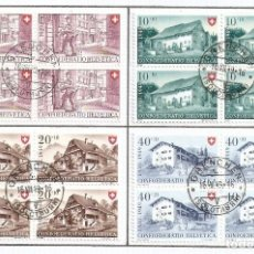 Sellos: SUIZA.1949. YT 477/480. Lote 278559543