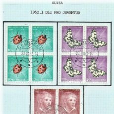 Sellos: SUIZA.1952. YT 526/530. PRO JUVENTUD.. Lote 278559643