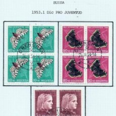 Sellos: SUIZA.1953. YT 539/543. PRO JUVENTUD.. Lote 278559738