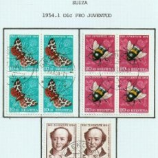 Sellos: SUIZA.1954. YT 553/557. PRO JUVENTUD.. Lote 278559833