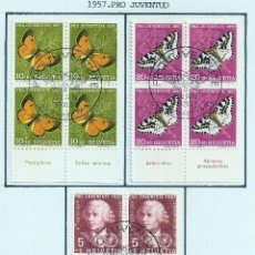 Sellos: SUIZA.1957. YT 597/601. PRO JUVENTUD.. Lote 278559888