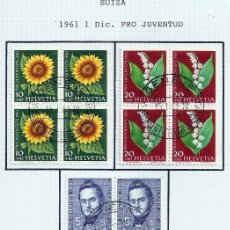 Sellos: SUIZA.1961. YT 684/688. PRO JUVENTUD.. Lote 278560003
