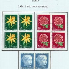 Sellos: SUIZA.1964. YT 738/742. PRO JUVENTUD.. Lote 278560058