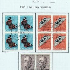 Sellos: SUIZA.1950. YT 502/506. PRO JUVENTUD.. Lote 278560158