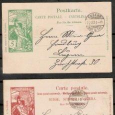 Timbres: SUIZA 1900. UPU. JUBILE DE L´UNION POSTALE UNIVERSELLE 1875-1900. 5 CT -10 CT.. Lote 287132043