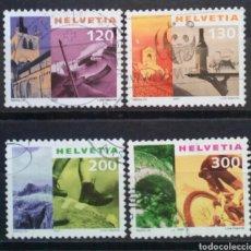 Timbres: SUIZA 2000 PANORÁMICAS SERIE DE SELLOS USADOS. Lote 287193458