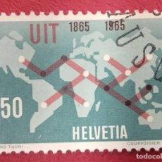 Sellos: SUIZA 1965. MI:CH 811,. Lote 288189558
