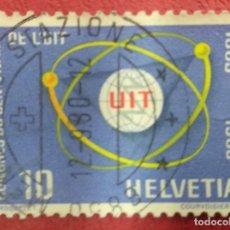 Sellos: SUIZA 1965. U.I.T. (UNIÓN INTERNACIONAL DE TELECOMUNICACIONES), MI:CH 823,. Lote 288191523