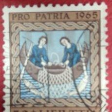 Sellos: SUIZA 1965. PESCA DE LOS APÓSTOLES. MI:CH 817,. Lote 288194488