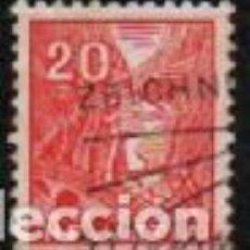 Sellos: SUIZA EDIFIL Nº 275 (AÑO 1934), VISTA DE SAINT GOTARD, USADO. Lote 288201128