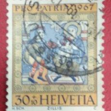 Sellos: SUIZA 1967. ADORACIÓN DE LOS REYES. MI:CH 856,. Lote 288224868