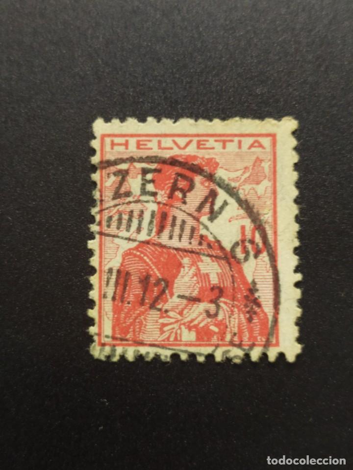 ## SUIZA USADO 1909 ALEGORIA 10 ## (Sellos - Extranjero - Europa - Suiza)