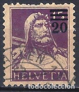 SUIZA 1921 - GUILLERMO TELL, SOBRECARGADO 20 SOBRE 15 - USADO (Sellos - Extranjero - Europa - Suiza)