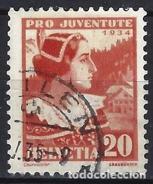 SUIZA 1934 - PRO JUVENTUD, TRAJES - USADO (Sellos - Extranjero - Europa - Suiza)