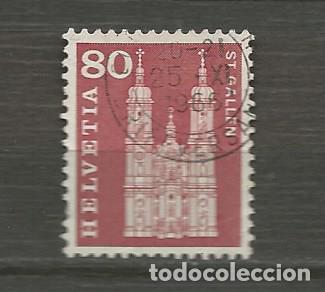 SUIZA. IVERT 655. AÑO 1960-1963. HISTORIA DEL CORREO Y MONUMENTOS. USADO. (Sellos - Extranjero - Europa - Suiza)