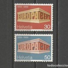 Sellos: SUIZA. IVERT 832/33**. AÑO 1969. EUROPA. NUEVO SIN FIJASELLOS.. Lote 293902968