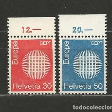 Sellos: SUIZA. IVERT 855/56**. AÑO 1970. EUROPA. NUEVO SIN FIJASELLOS.. Lote 293905023